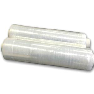 6 Rolls of Clear Pallet Shrink Wrap Standard Core 400mm x 300m 20 microns-0