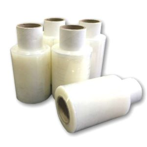 6 x Mini Handy Stretch Pallet Shrink Wrap 100mm x 150m 17mu -0