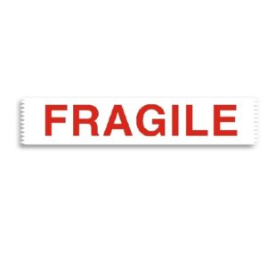 36 Rolls of 48mm x 66m Red Fragile Tape-0