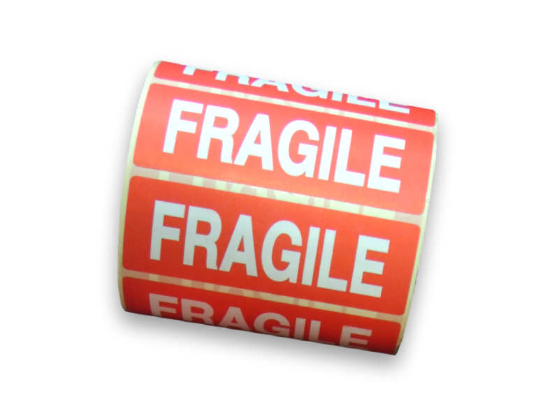Roll of 1000 Fragile Labels Stickers Parcel-0