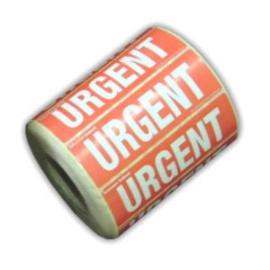 Roll of 1000 Urgent Labels Stickers for Parcels-0