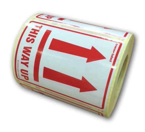 1 Roll of 500 Labels This Way Up Parcel Delivery Stickers-0