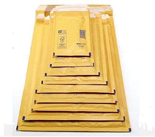 120mm X 215mm Arofol 174 Bubble Padded Mailing Envelopes Gold