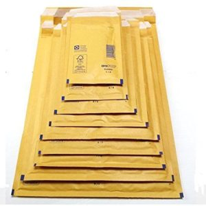 Box of 100 220mm x 340mm (Size 6) aroFOL® BUBBLE Padded Mailing ENVELOPES GOLD-0