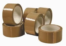 Box of 36 Rolls of Brown Strong Buff Packing Tape 48mm x 66m-437